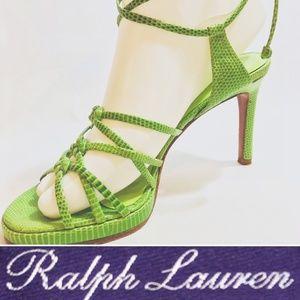 ff6852c861e Ralph Lauren Collection Purple Label Lace-Up Heels